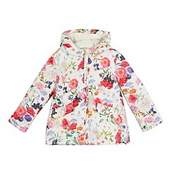 RJR.John Rocha - Girls' white quilted floral print coat