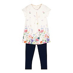 RJR.John Rocha - Girls' pink botanical top and leggings set