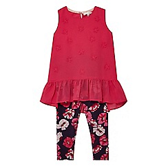 RJR.John Rocha - Girls' pink floral print top and leggings set