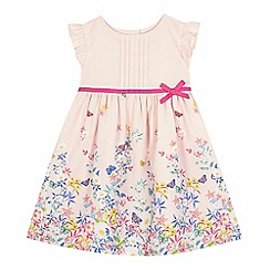 RJR.John Rocha - Girls' light pink floral print pleated front dress