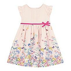 RJR.John Rocha - Girls' light pink floral print pleated front dress