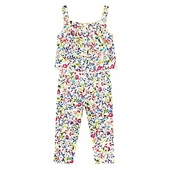 RJR.John Rocha - Girls' cream floral print jumpsuit