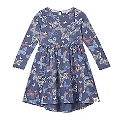 Mantaray - Girls' navy butterfly dress