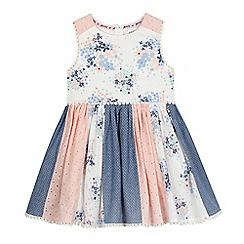 Mantaray - Girls' pink panel patchwork dress