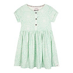 Mantaray - Girls' light turquoise floral print dress