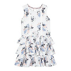 Mantaray - Girls' white floral rara dress