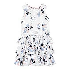 Mantaray - Girls' white floral rara dress