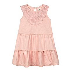 Mantaray - Girls' pink tiered jersey dress