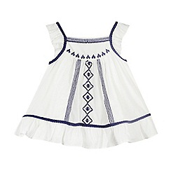 Mantaray - Girls' white stitched detail top