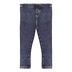 Mantaray - Girls' blue acid wash-effect jeggings