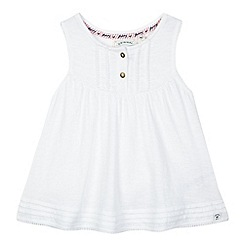 Mantaray - Girls' off white A line jersey top