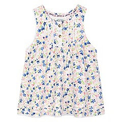 Mantaray - Girls' pink floral print dress
