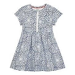 Mantaray - Girls' blue floral print jersey dress