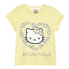 Hello Kitty - Girls' yellow 'Hello Kitty' print t-shirt