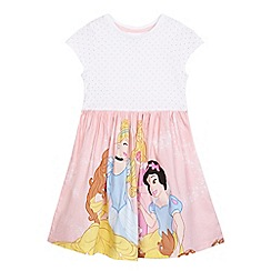 Disney Princess - Girls' pink Disney princess print dress