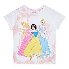 Disney Princess - Girls' white 'Disney' princess print t-shirt