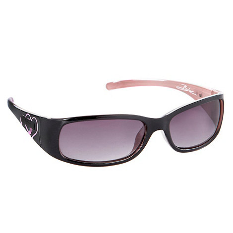 Bloc - Girl+s pink sketched heart sunglasses