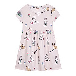 bluezoo - Girls' pink rabbit print dress