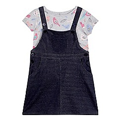 bluezoo - Girls' multi-coloured t-shirt and pinafore set