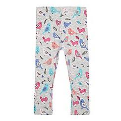 bluezoo - Girls' navy bird print leggings