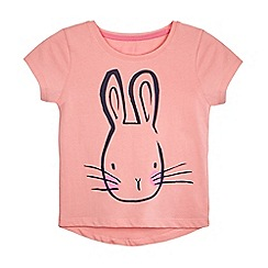 bluezoo - Girls' pink rabbit print t-shirt