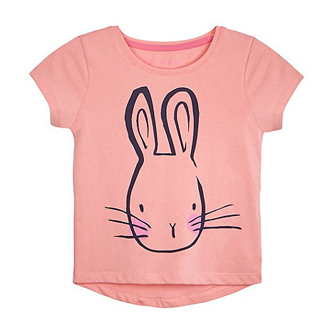 bluezoo - Girls+ pink rabbit print t-shirt