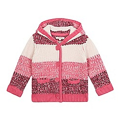 bluezoo - Girls' pink striped cardigan
