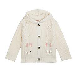 bluezoo - Girls' cream bunny pockets cardigan