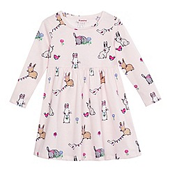 bluezoo - Girls' pink bunny print dress