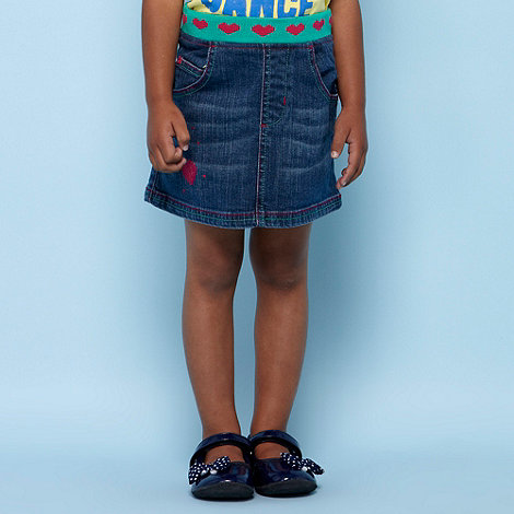bluezoo - Girl+s blue knot trimmed denim skirt