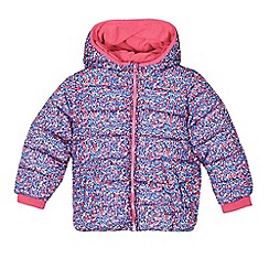 bluezoo - Girls' pink floral print wadded coat