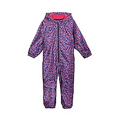 bluezoo - Girls' waterproof multi-coloured ditsy print puddlesuit