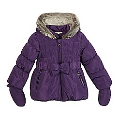 bluezoo - Girls' purple faux fur padded coat