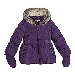bluezoo - Girls' purple faux fur padded coat