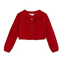 bluezoo - Girls' red glittery cardigan