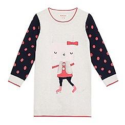 bluezoo - Girls' multi-coloured rabbit applique jumper dress