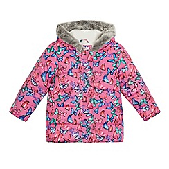 bluezoo - Girls' pink butterfly print coat