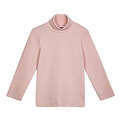 BLUE ZOO - Girls' pink roll neck top