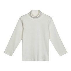 bluezoo - Girls' white roll neck top