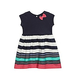 bluezoo - Girls' navy striped print dress