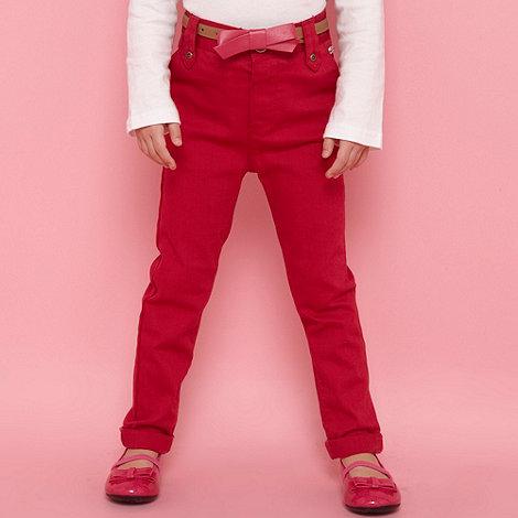 J by Jasper Conran - Designer girl+s dark pink belted jeans