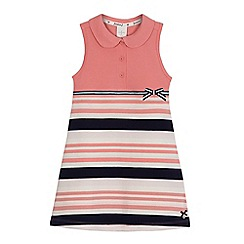 J by Jasper Conran - Girls' pink striped print tennis dress