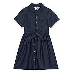 J by Jasper Conran - Girls' blue chambray shirt dress