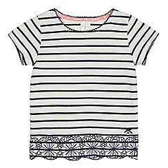 J by Jasper Conran - Girls' white and navy striped print top