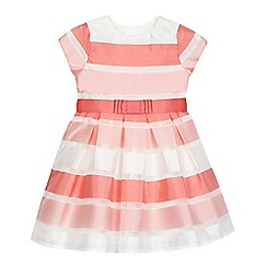 J by Jasper Conran - Girls' pink block striped print dress