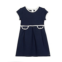 J by Jasper Conran - Girls' navy quilted contrasting trim dress