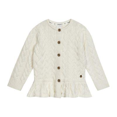J by Jasper Conran Girls cream cable knit cardigan