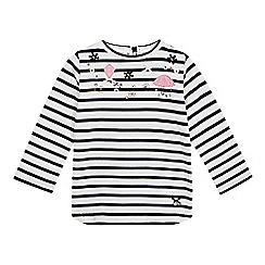J by Jasper Conran - Girls' white and navy applique top