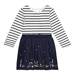 J by Jasper Conran - Girls' navy striped cat dress