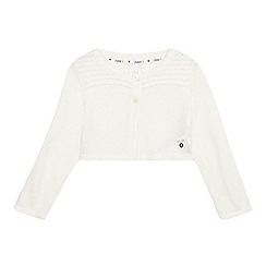 J by Jasper Conran - Girls' cream cropped cardigan